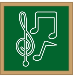 Music notes symbol vector