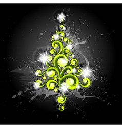 new year s tree vector image vector image