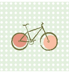 old retro bicycle vector image vector image