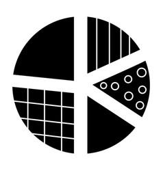 pie diagram icon black sign vector image