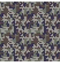 Pixel camo seamless pattern Blue camouflage vector image vector image