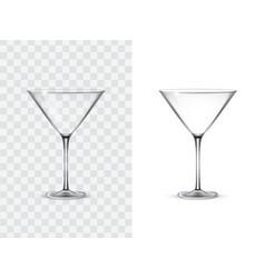 realistic margarita glasses vector image