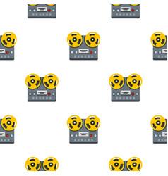 Reel tape recorder deck pattern seamless vector