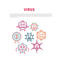Seamlessbacteria and viruses pattern vector