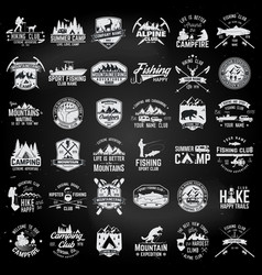 set of extreme adventure badges concept for shirt vector image