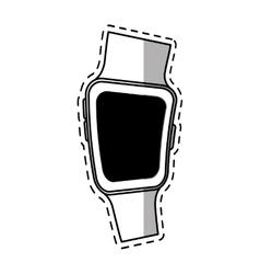 Smart watch wearable modern device shadow vector