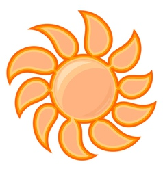 sun sign vector image