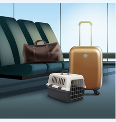 travel with pet vector image vector image