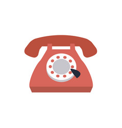 Vintage telephone communication call talk icon vector