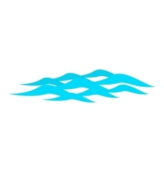 Waves ripple icon cartoon style vector