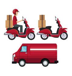 white background with set vehicles of transport vector image