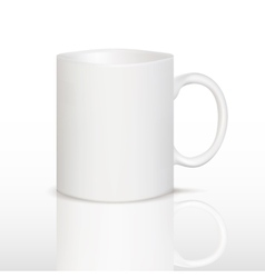 white cup on table vector image vector image