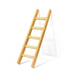 Wooden step ladder vector