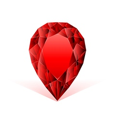 Ruby face against white background vector