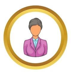 Woman receptionist at hotel icon vector