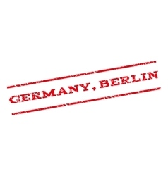 Germany berlin watermark stamp vector