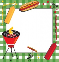 picnic and bbq invitation vector image