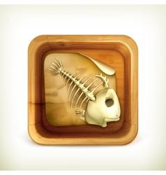 Dead pet icon vector