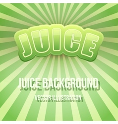 Background of Label for apple juice Bright premium vector image