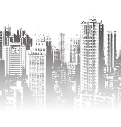 Panorama of the city cartoon vector
