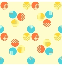 Abstract seamless pattern with geometrical objects vector