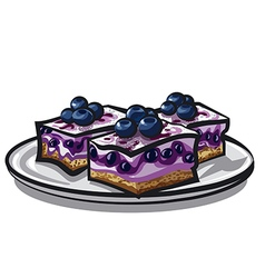 Blueberry cake vector