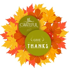 Happy thanksgiving autumn design vector