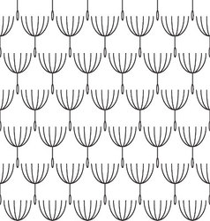 Seamless blackwhite dandelion pattern vector