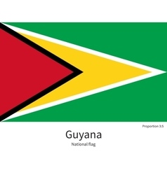 National flag of guyana with correct proportions vector