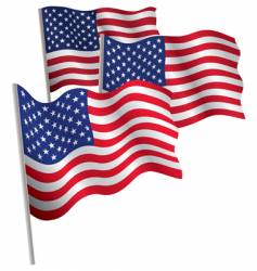 Usa 3d flag vector