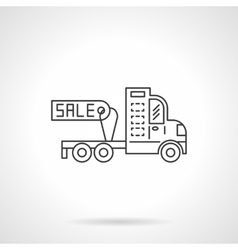 Sale truck without trailer icon line icon vector