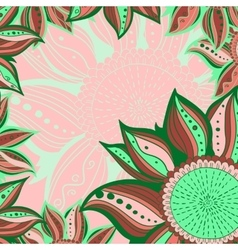 Colorful flowers pattern background floral frame vector