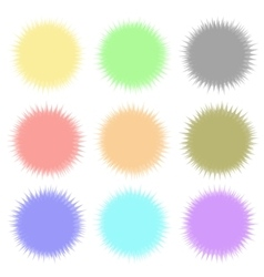 Round colored banners vector