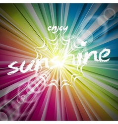 Abstract shiny background with sun flare vector image vector image