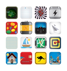 app set of icons vector image vector image