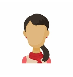 Avatar brunette woman icon cartoon style vector image vector image