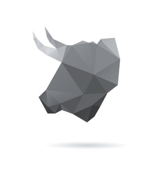 Bull head abstract isolated vector image vector image