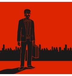 Businessman in Crisis vector image vector image