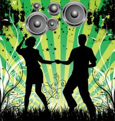 Dance grunge background vector