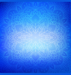 decorative mandala background vector image