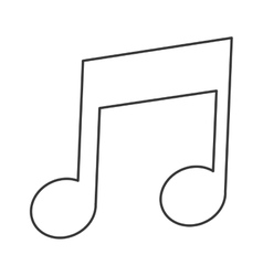 Eighth note icon vector