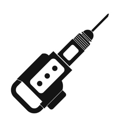 Electric jackhammer icon vector