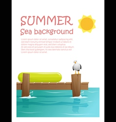Enjoy tropical summer holiday background 2 vector