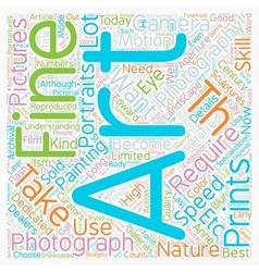 Fine art photography text background wordcloud vector