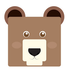 Isolated bear face vector