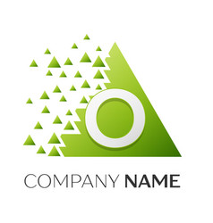 Letter o logo symbol in colorful triangle vector