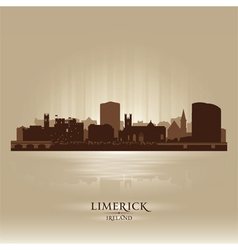 Limerick ireland skyline city silhouette vector