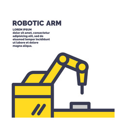 Mechanical robotic arm for work vector