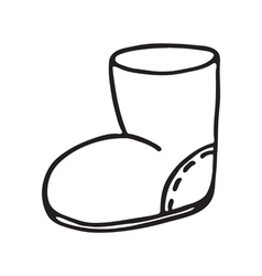 Santa boot icon on white background vector