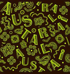 seamless pattern - australian aboriginal vector image
